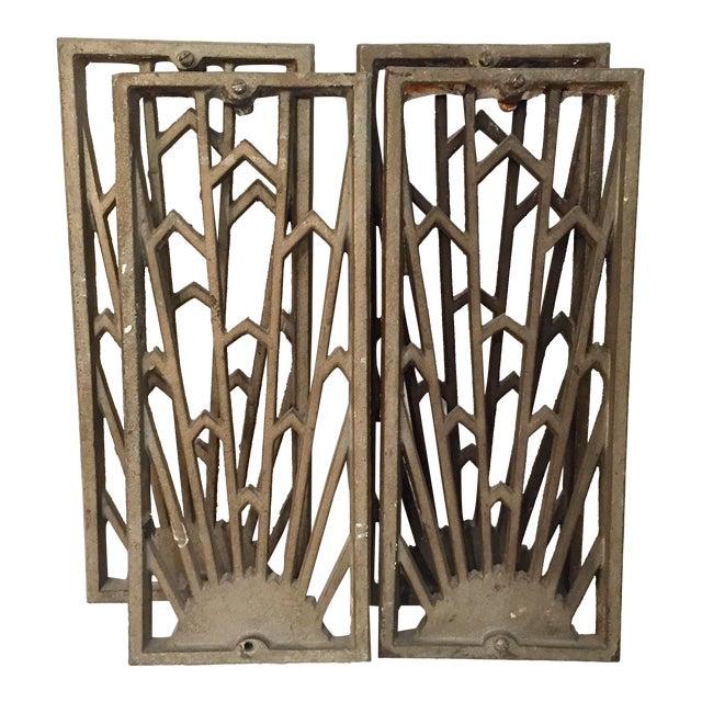 Vintage Art Deco Grates - Set of 4 - Image 1 of 5