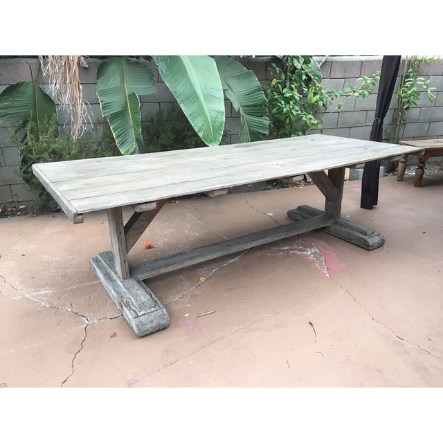 Antique Rustic Farm Table - Image 4 of 7