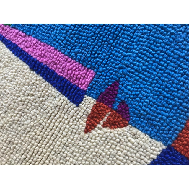 Limited Edition Female Abstract Color Block Rug Wall Hanging Textile - Image 4 of 6