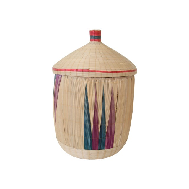 Woven Basket with Lid - Image 7 of 7