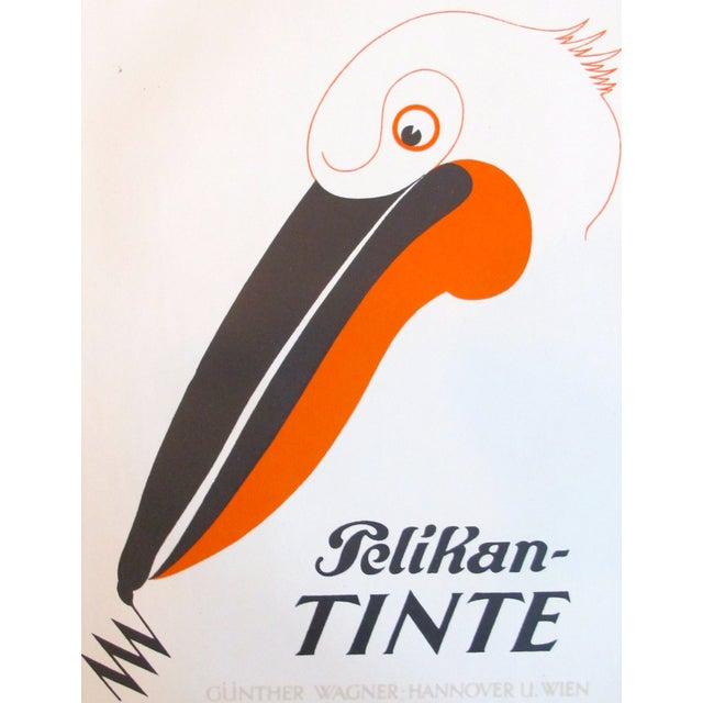 Image of Original 1927 Lithographic Pelican Poster