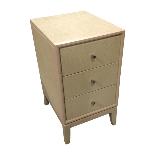 Bassett Taupe Wooden Side Table Chest - Image 1 of 6
