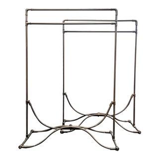 Steampunk Bronze Garment Racks - A Pair