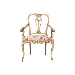 Settocento Rococo Floral Armchair