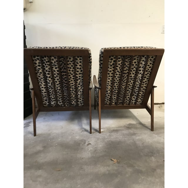 Vintage Danish Modern High Back Armchairs - A Pair - Image 6 of 11