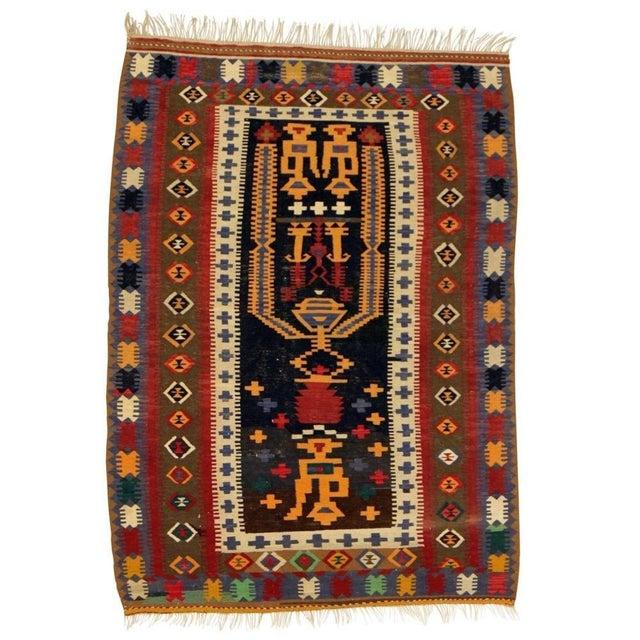 "Image of Anatolian Hand Woven Kilim Rug - 4'6"" X 6'4"""