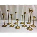 Image of Mid-Century Brass Candleholders - Set of 10