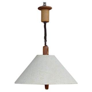 Mid-Century Adjustable German Pendant Light Fixture