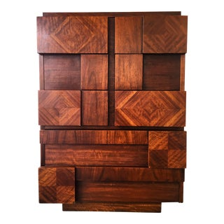 Lane Brutalist Chest of Drawers