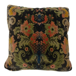 "Traditional Large Cut Velvet Pillow - 24"" x 24"""