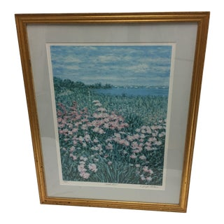Joseph Fontaine Beach Roses Lithograph