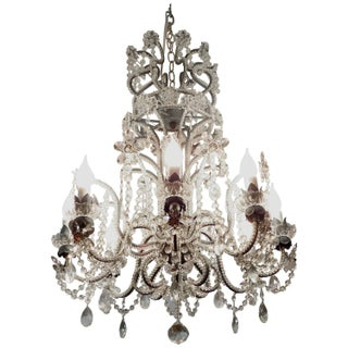 Italian Ornate Crystal Chandelier
