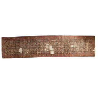 "Distressed Antique Fereghan Rug Runner - 3'4"" x 14'8"""