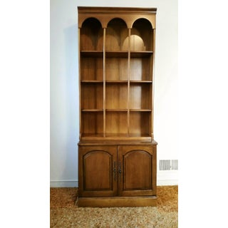 Early American-Style Bookshelf With Storage Cabinet