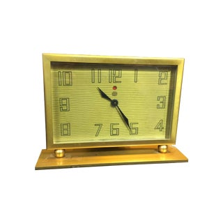 Vintage General Electric Brass Table Clock