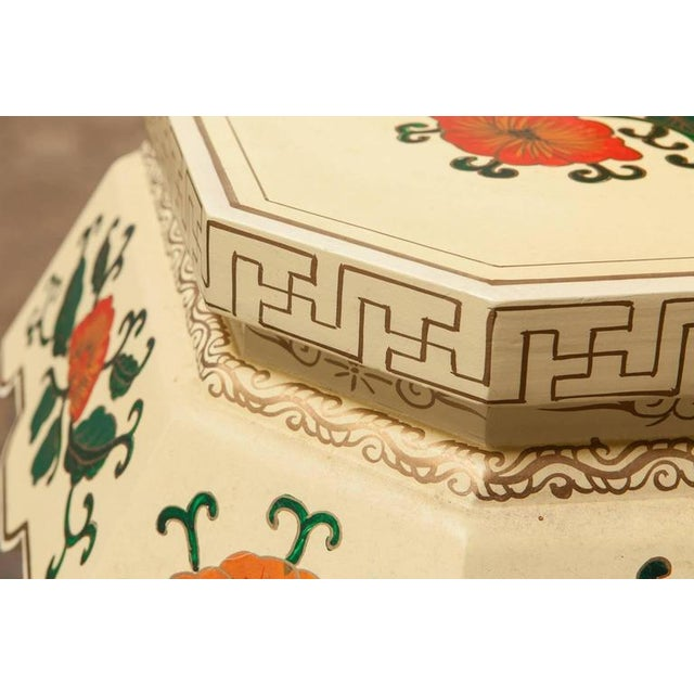 Chinese Lacquered Garden Stool - Image 4 of 10