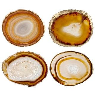 Agate Slice Coasters - Set of 4