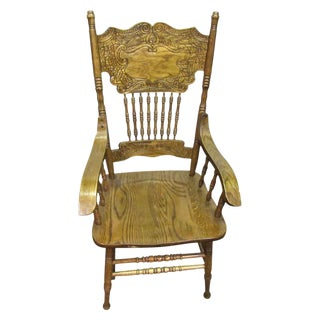 Wooden Carved Back Rest Chair