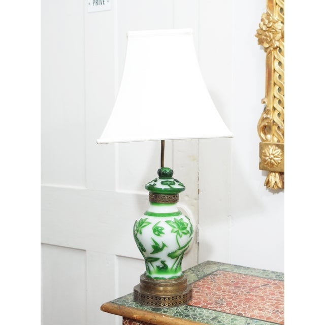 19TH CENTURY PEKING GLASS VASES AS LAMPS - Image 3 of 7