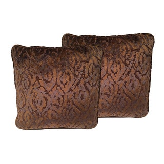 Copper & Navy Designer Pillows - A Pair