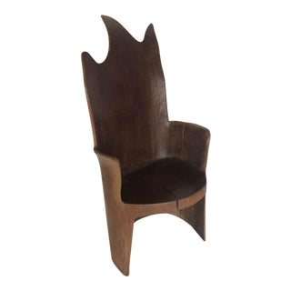 Organic Modern Mahogany Occasional Chair