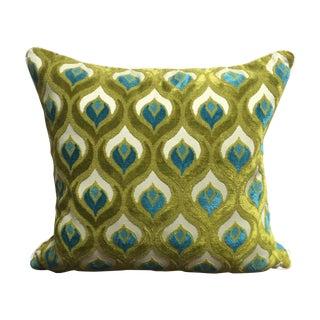 Peacock Velvet Pillow
