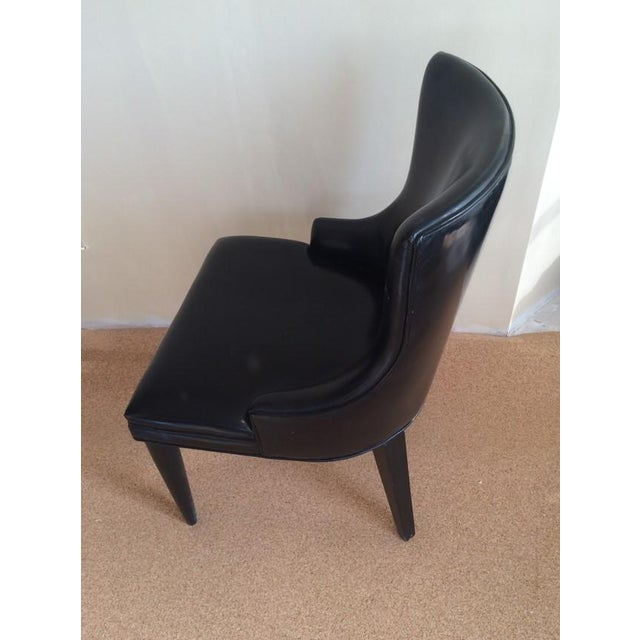 Baker Replica Black Leather Dining Chairs - A Pair - Image 6 of 8