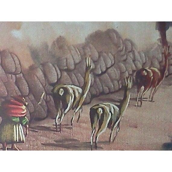 Vintage Peruvian Street Scene Oil Painting - Image 5 of 5