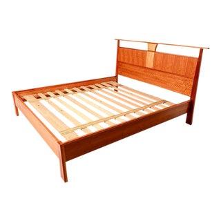 Custom Cal King Bed by Wood Castle OREGON, Nakashima Inspired
