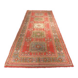 "Vintage Bellwether Rugs Turkish Oushak Runner - 4'7""x11'6"""