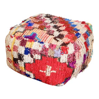 Boucherouite Rug One Of-A-Kind Pouf