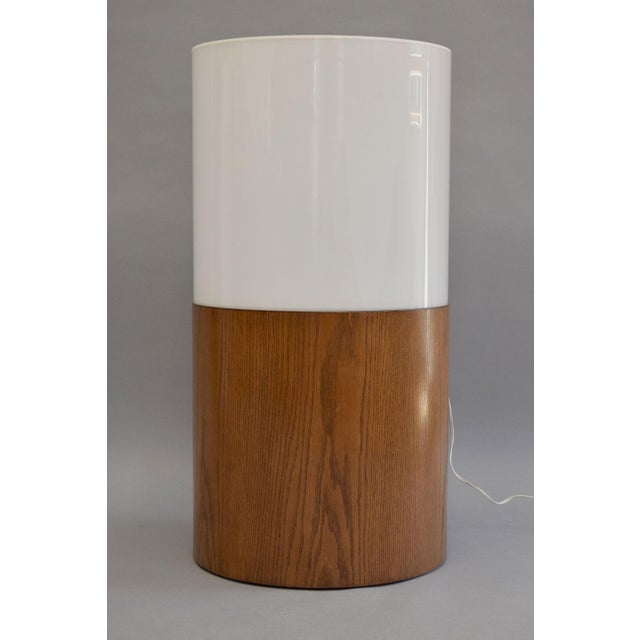 Image of Paul Mayen Mid-Century Lucite & Wood Floor Lamp