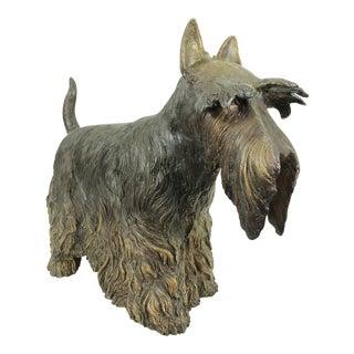 English Terrier Dog Bronze Sculpture