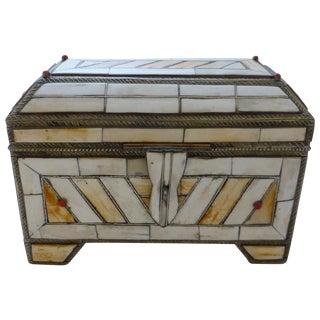 Vintage Moroccan Bone Trinket Box