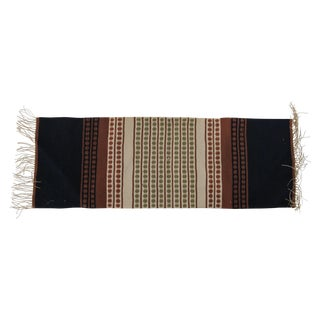 Mid-Century Fringed Table Runner