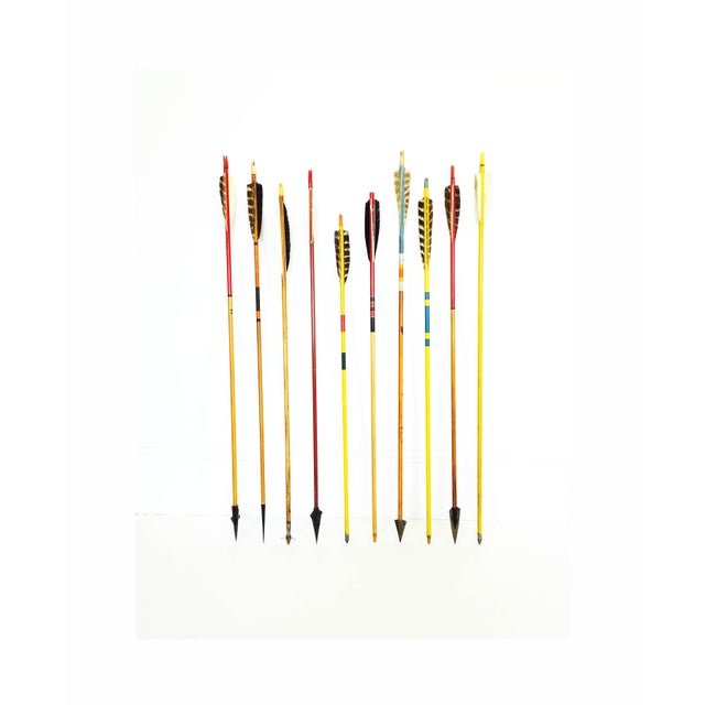 Vintage Neutral Colored Wood Arrows - Set of 10 - Image 2 of 5
