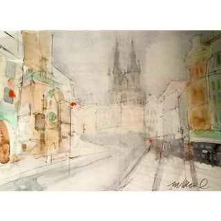 """European Streets"" Watercolor Painting"