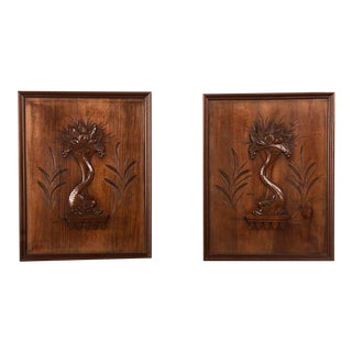 Pair Walnut Panels, France c. 1900