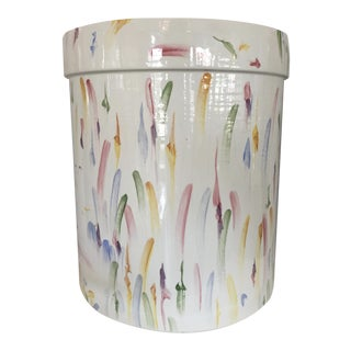 Italian Hand Painted Ceramic Stool