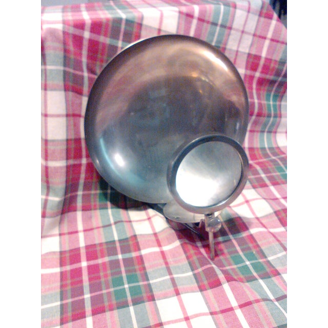 Vintage Candle Wick Sconce with Magnifying Glass - Image 2 of 8
