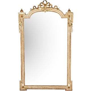 Large French Gold Ribbon Mirror