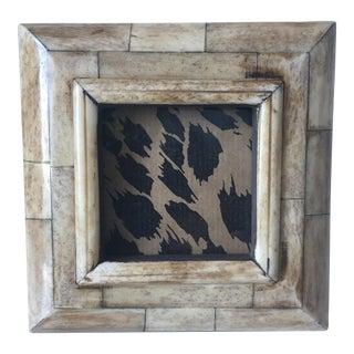 Vintage Bone Picture Frame-Wood Easel Back