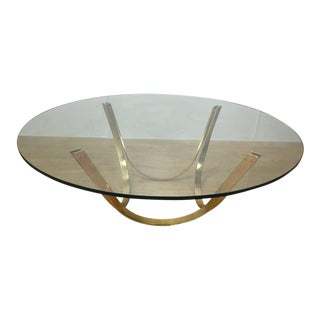 Dunbar Style Reversible Brass Cocktail Table