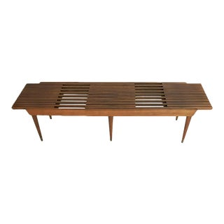 Mid-Century Expandable Slat Bench/Coffee Table