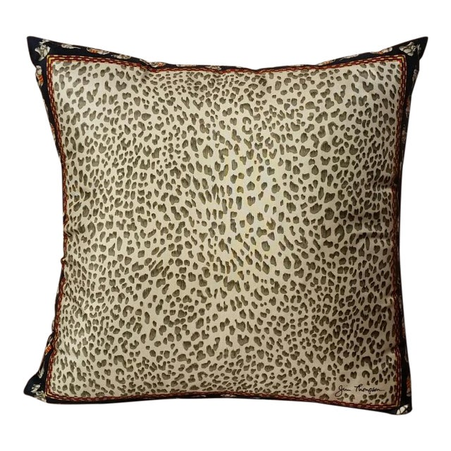Jim Thompson Silk Leopard Pillow - Image 1 of 4