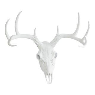 White Faux Deer Skull Animal Head by Wall Charmers