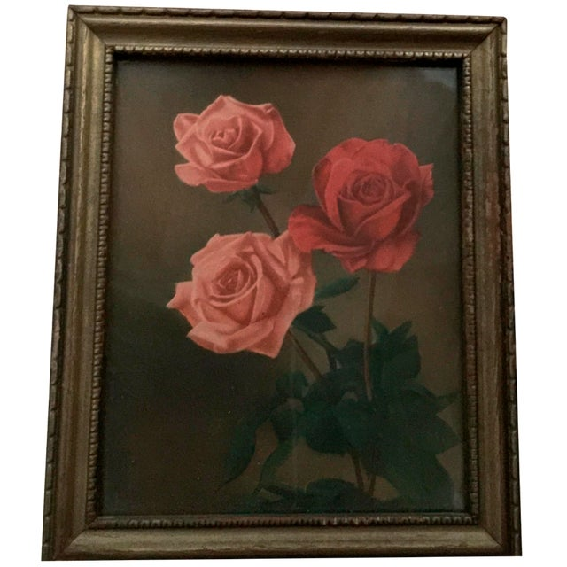 """Roses With Greenery"" Painting - Image 1 of 5"