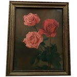"""Image of """"Roses With Greenery"""" Painting"""