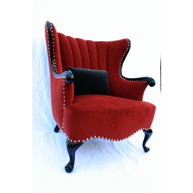 Vintage Channel Wing Back Chair Chairish