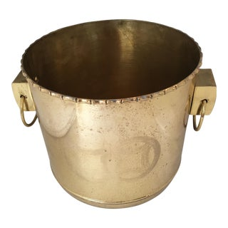 Chinoiserie Brass Planter with Side Handles